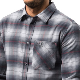 Jack Wolfskin Light Valley Langærmet T-shirt Herrer hvid/sort